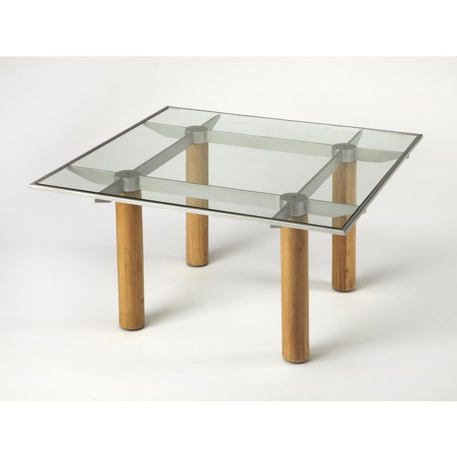 Modern Butler Specialty Cirrus Glass & Metal Coffee Table For Sale - Image 3 of 3