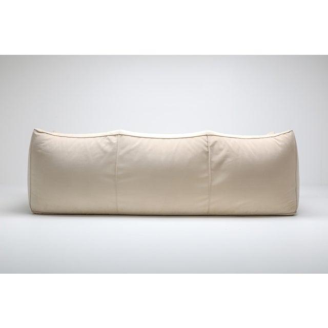 White Mario Bellini 'Le Bambole' Three-Seat Couch in Alcantara For Sale - Image 8 of 10