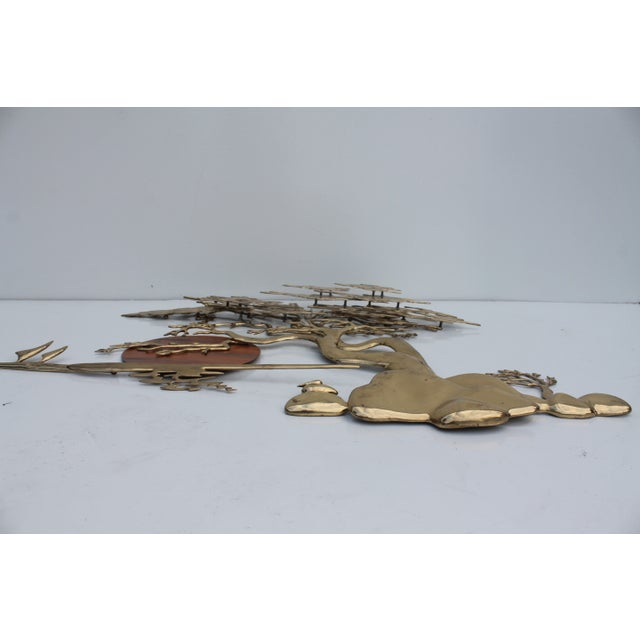 Bijan Solid Brass Wall Sculpture - Image 10 of 10