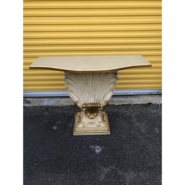 Hollywood Regency Shell Console Table For Sale - Image 11 of 11