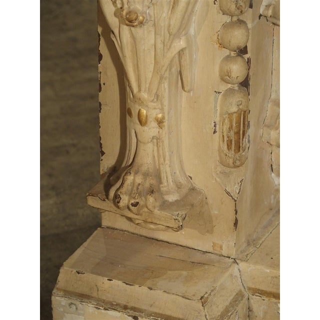 Antique Painted Napoleon III Wall Console Pedestal, Circa 1860 For Sale In Dallas - Image 6 of 13