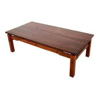 Mid Century Modern Studio Solid Teak Coffee Table For Sale