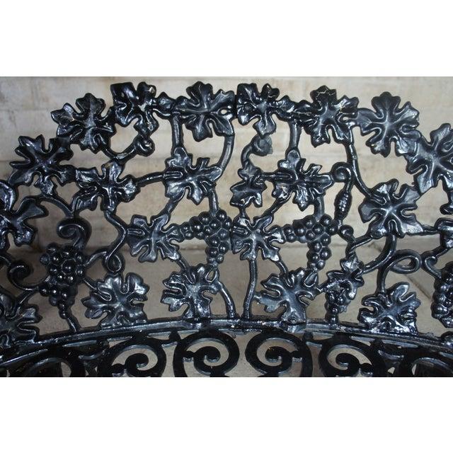 Metal Antique Victorian Cast Iron Grape Vine Garden Furniture-Set Of 3 For Sale - Image 7 of 11
