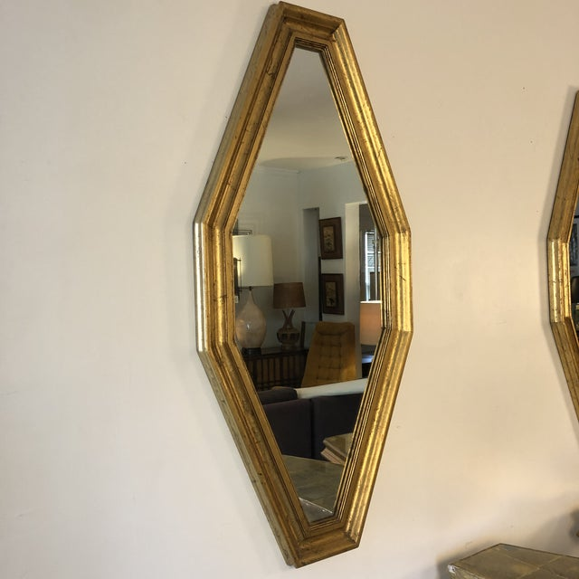 1950s Hollywood Regency Gold Console and Mirror For Sale - Image 11 of 13
