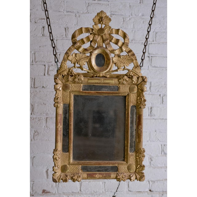 Beautiful Small 18th Century Mirror Louis XVI For Sale - Image 11 of 12