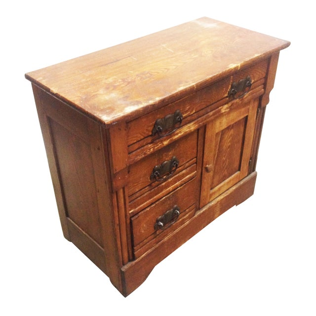 Antique One Door Chest - Image 1 of 7
