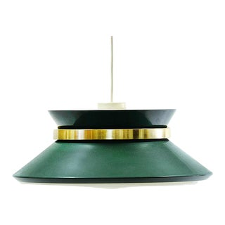 1970's Carl Thore for Granhaga Metallindustri Dark Green Pendant Light