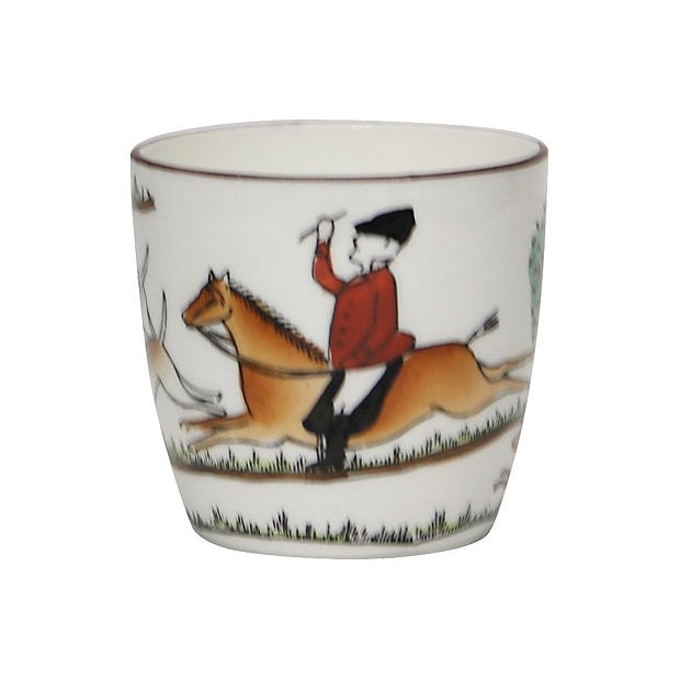 Crown Staffordshire English Hunting Scene Shot Glass For Sale - Image 4 of 4