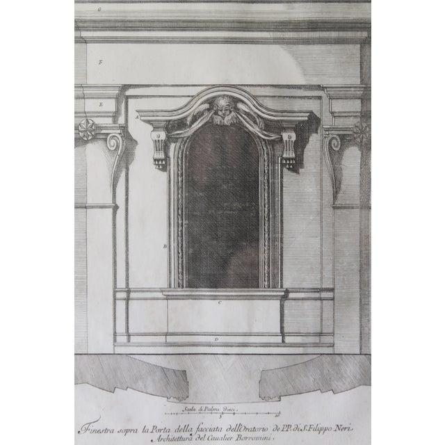 Italian Early 19th Century Antique Finestra Sopra La Porta Architectual Print For Sale - Image 3 of 10