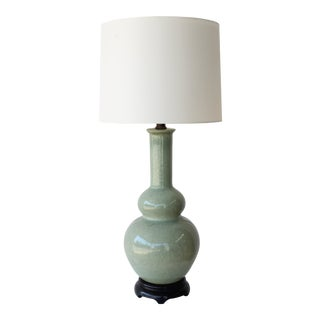 1950s Mid Century Glazed Ceramic Table Lamp by Wilshire House, Beverly Hills For Sale