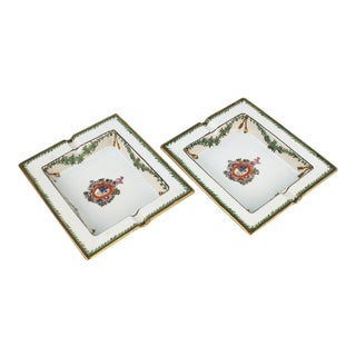 Ceramic Ashtrays with Coat of Arms - a Pair For Sale