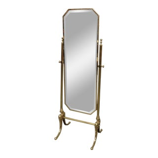 Hollywood Regency Style Cheval Mirror For Sale