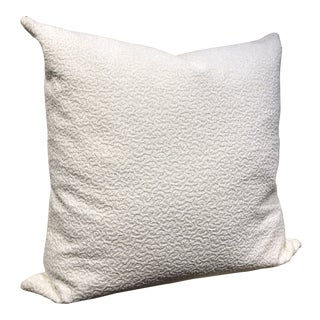 White Textured Pillow For Sale