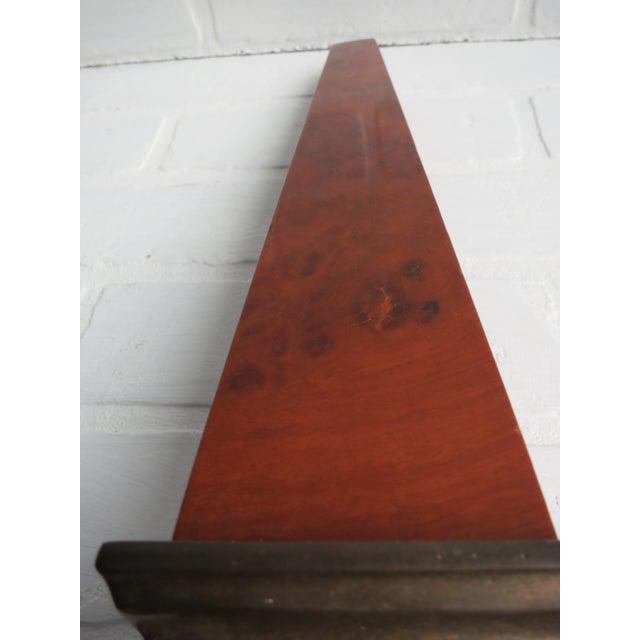 Frederick Cooper Brass & Burl Wood Large Obelisk For Sale - Image 12 of 13