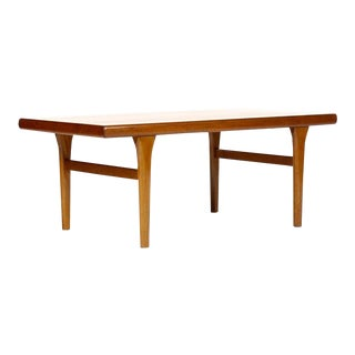 1960s Danish Modern Teak Rectangular Coffee Table For Sale