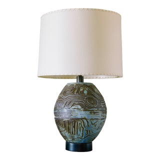 Coil Ovoid Lamp Long Beach Blue by Clate Grunden For Sale