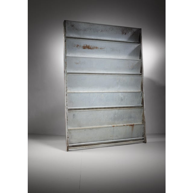 A sliding panel in aluminum and wood by Jean Prouve, ca. 1964 for a class room of a school in Cameroon. Jean Prouvé...