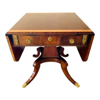 Federal Style Drop Leaf Mahogany Table For Sale