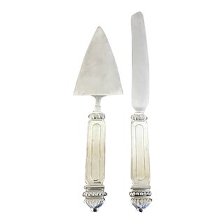 1960s Vintage Godinger Cake Knife and Serving Set - a Pair For Sale