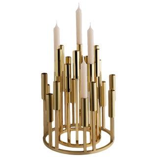 Borgia Brass Chandelier, Carla Baz For Sale