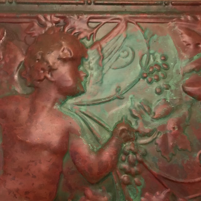 Victorian Copper Cherub Wall Panel For Sale In Charlotte - Image 6 of 11