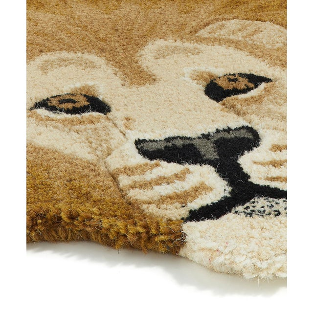 Shabby Chic Doing Goods Moody Lion Rug Large For Sale - Image 3 of 6