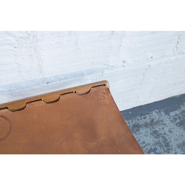 Poul Hundevad Leather Folding Guldhoj Ph 43 Stool For Sale In Portland, OR - Image 6 of 6