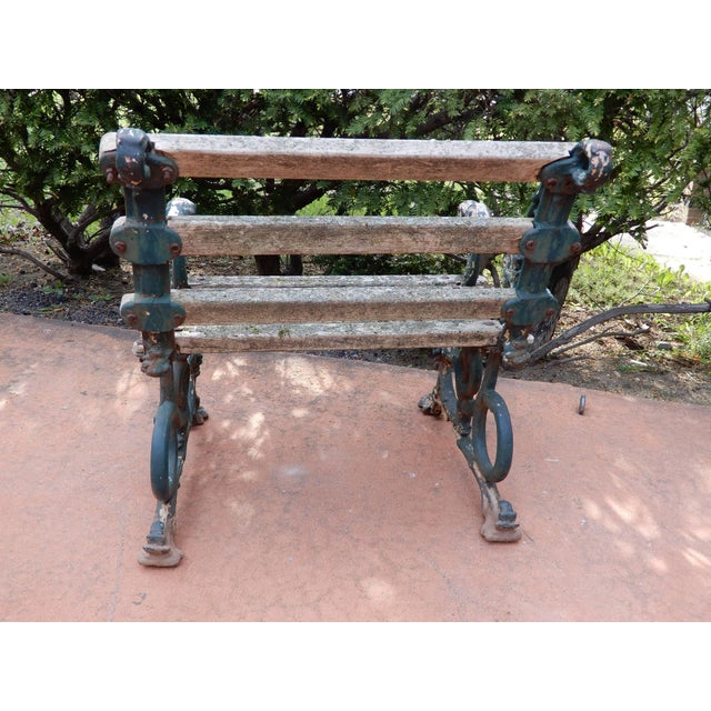 Coalbrookdale Antique Cast Iron Garden Chair For Sale In New York - Image 6 of 9