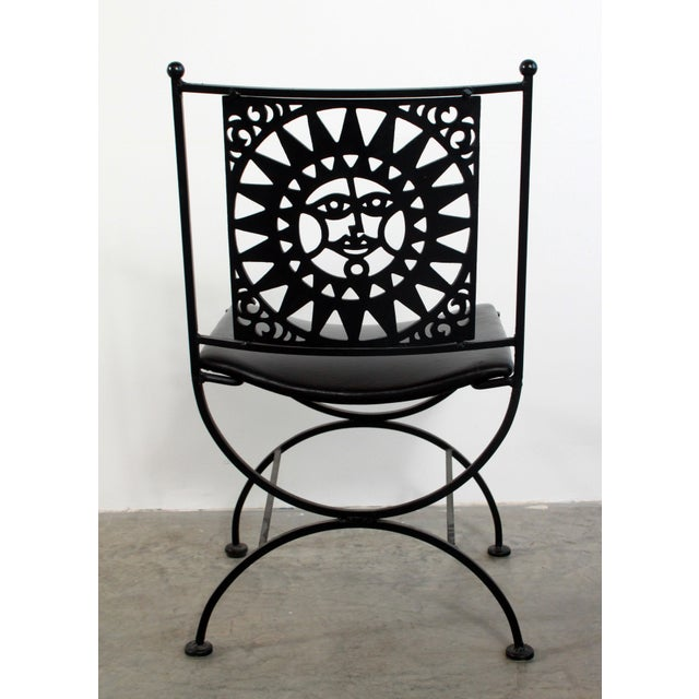 1950s Mid Century Modern Arthur Umanoff Mayan Sun Cast Iron Chairs - a Pair For Sale - Image 11 of 13