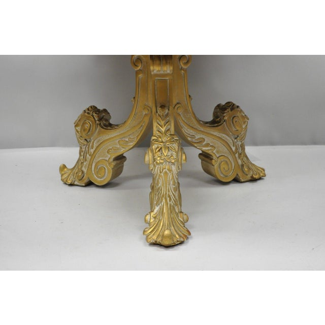Vintage Mid-Century French Rococo Style Coffee Table For Sale - Image 4 of 12