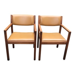 Mid Century Gunlocke Teak Chairs - A Pair For Sale