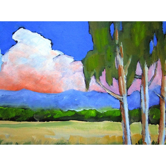 Contemporary Salinas Valley California Eucalyptus Summer Clouds Landscape Lynne French For Sale - Image 3 of 6