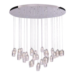 2010 Residential Diffi Round Chandelier For Sale