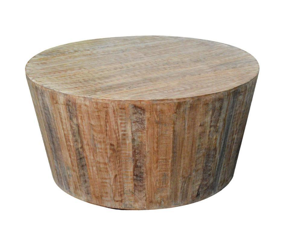 Distressed White Reclaimed Wood Round Coffee Table Chairish