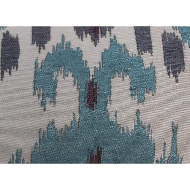 Teal Ikat Lumbar Pillow - Image 4 of 4