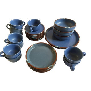 Dansk Mesa Sky Blue Set of 25 Pieces For Sale
