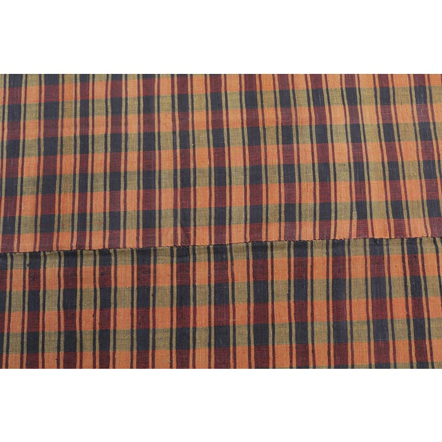 What a special rug this is - It's retro 'plaid' pattern is boho and modern but once you realize it's an antique Turkish...