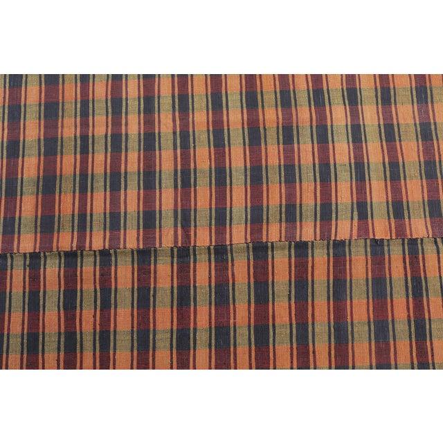 Vintage Turkish Striped Plaid Flatweave - 6′ × 8′5″ - Image 2 of 4
