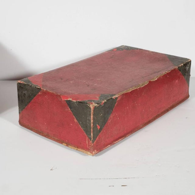 Asian Two Korean Antique Dowery Boxes in Brown Rattan and Red Papier-Mâché For Sale - Image 3 of 11