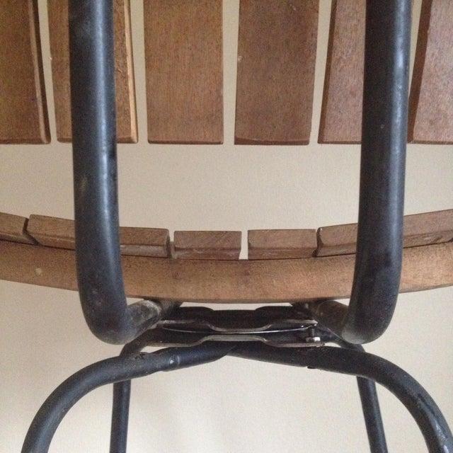 Mid Century Umanoff Style Wooden Slat Stool - Image 5 of 10