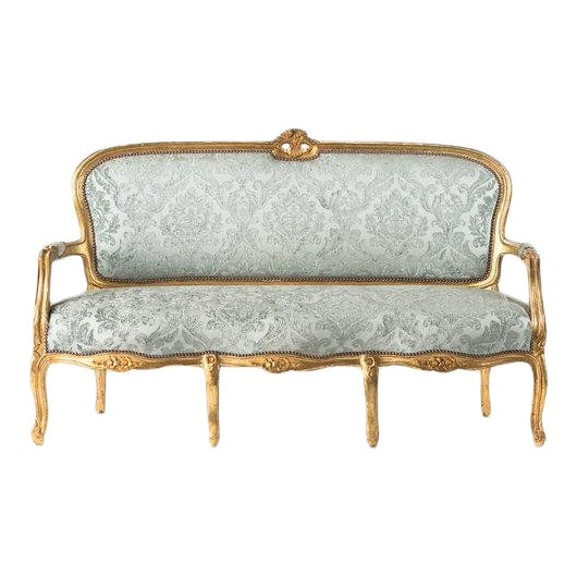 1930s Vintage Adalie French Mint Sofa For Sale