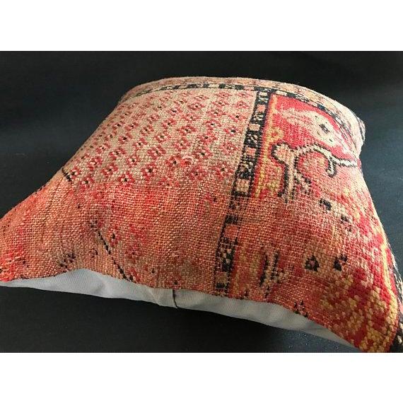 1960s Americana Handwoven Oushak Orange Pillow Case For Sale In Austin - Image 6 of 9