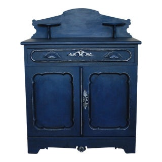 Blue Painted Victorian Washstand