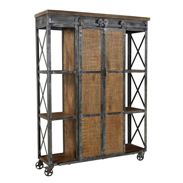 Farmhouse Industrial Farmhouse Storage Cabinet For Sale - Image 3 of 3