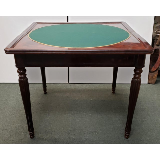 Early 20th Century Early 20th Century English Regency Style Mahogany Flip Top Games Table For Sale - Image 5 of 9