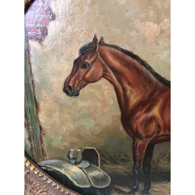 Americana Americana Marvelous Old World Portrait of House in Stable For Sale - Image 3 of 8