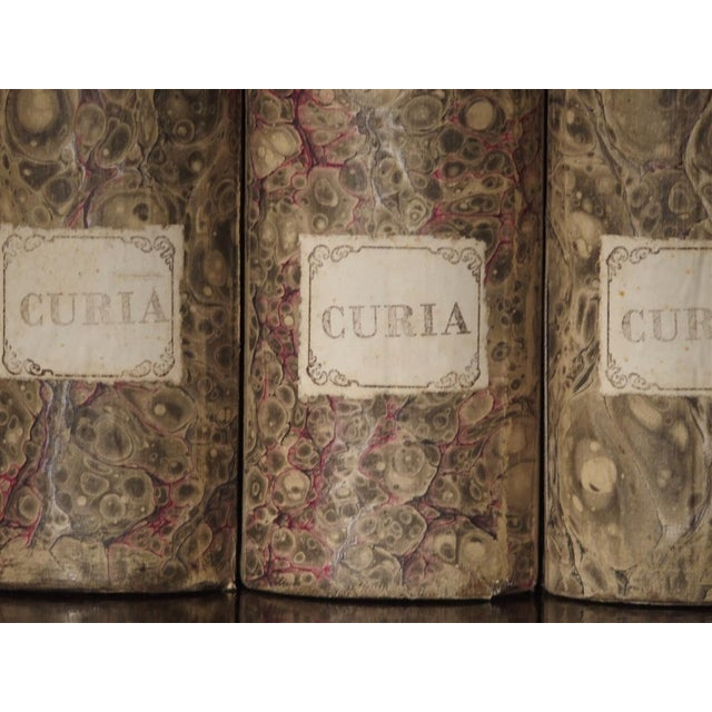 Decorative Set of 3 Antique Faux Book Document Holders From Italy, C.1915 For Sale - Image 10 of 12