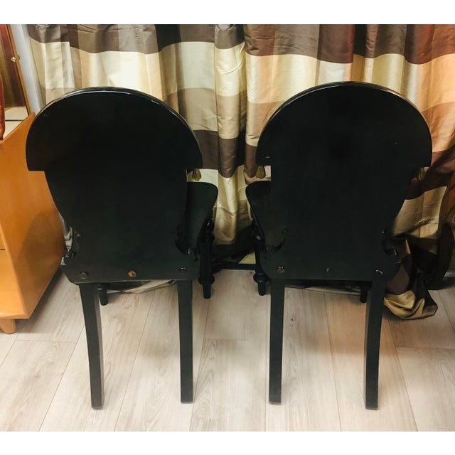 James Shoolbred Furniture London Chairs - a Pair For Sale In Chicago - Image 6 of 11