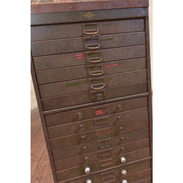 Metal 1940s Industrial Browne-Morse Filing Cabinet For Sale - Image 7 of 10