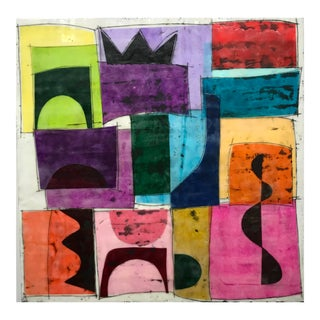 """""""Seventeen Summers Ago"""" Encaustic Collage Painting by Gina Cochran For Sale"""